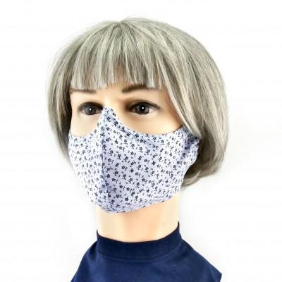 Masque Facial -  Gris clair à petites fleurs