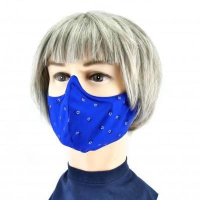 Masque Facial -  Bleu à petits motifs