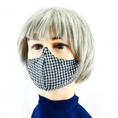 Masque Facial -  Damier noir/blanc