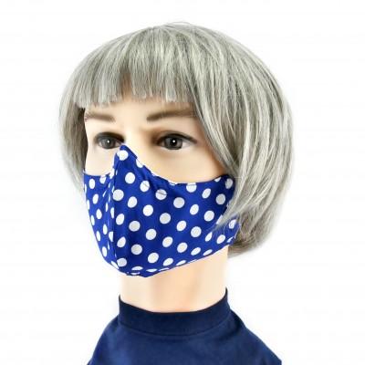 Masque Facial -  Bleu à pois blancs