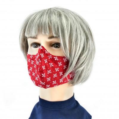 Masque Facial -  Rouge à motifs blancs