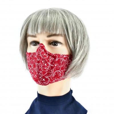 Masque Facial -  Rouge à fleurs blanches