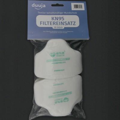 Set de 20 filtres incorporés KN95